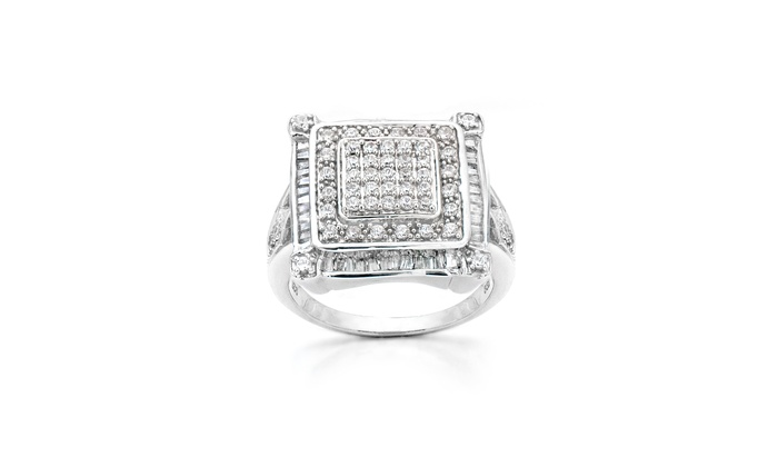 1.00 CTTW Diamond Pendant or Ring in Sterling Silver: 1.00 CTTW Diamond Pendant or Ring in Sterling Silver