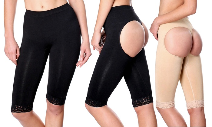Butt-Lifting Thigh-Trimming Shapewear in Standard or Plus Sizes (2-Pack)