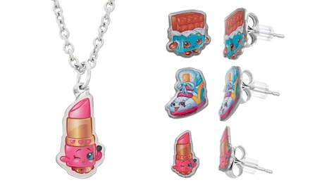 Shopkins Lippy Lips Necklace and Earrings Set (4-Piece)