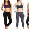 (2-Pack) Women's Fold-Over Waistline Yoga Capris