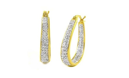 Inside-Out Hoop Earrings with Swarovski Elements Crystals