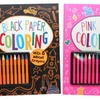 Coloring Books with 16 Bright Crayons (2-Pack)