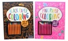 Two Coloring Books with 16 Bright Crayons