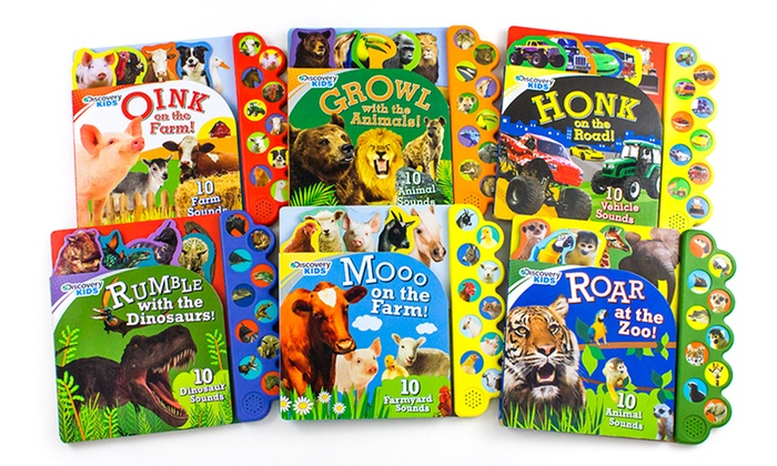 Discovery Kids 10-Button Sound Board Books (Set of 6) | Groupon