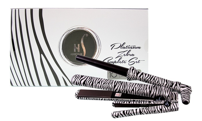 Ceramic straightener and curler groupon goods for Zebra curling wand
