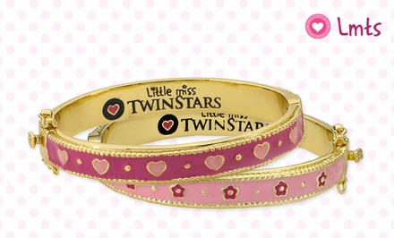 Little Miss Twin Stars Kids' Flower or Heart Bangles