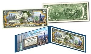 World Trade Center 15th Anniversary Colorized $2 Bill