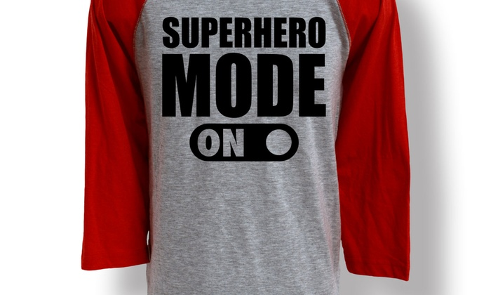 Men's Superhero Baseball Tees | Groupon