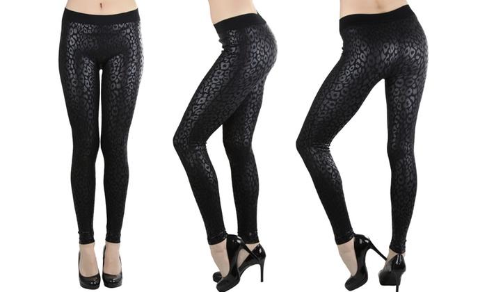 Women's Seamless Animal Print Stretchy Leggings