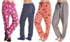 Angelina Women's Patterned Fleece Pajama Pants (2-Pack): Angelina Women's Patterned Fleece Pajama Pants (2-Pack)