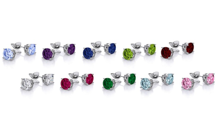 37e6c98d548 Earrrings in 18K Gold Plating Made with Swarovski Crystals (10 Pairs ...