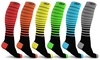 DCF Unisex Striped Compression Socks (6-Pack): DCF Unisex Striped Compression Socks (6-Pack)