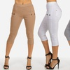 Women's Junior Fit One Size Stretchy Capris