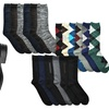 Men's Cotton Dress Socks in Solid Colors or Assorted Designs (6-Pairs)