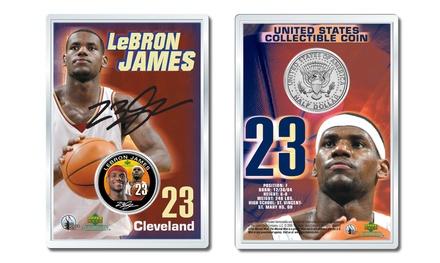 Lebron James Rookie Draft Coin JFK Half Dollar in 4