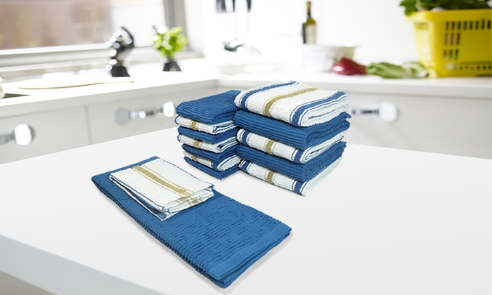 Cotton Kitchen Towel And Dishcloth Set (14 Piece): Cotton Kitchen Towel And  ... Part 52