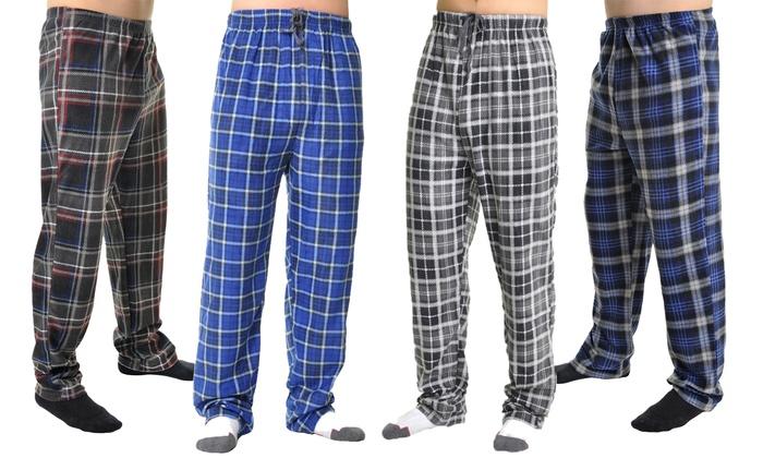 2-Pack Men's Fleece Pajama Pants Mystery Deal