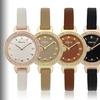 Eberle Austonian Women's Leather Strap Watch with Swarovski Crystals