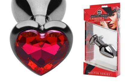 Scarlet Jeweled Heart Steel Anal Plug 77a9d63e-7062-11e6-97cb-00259060b5da