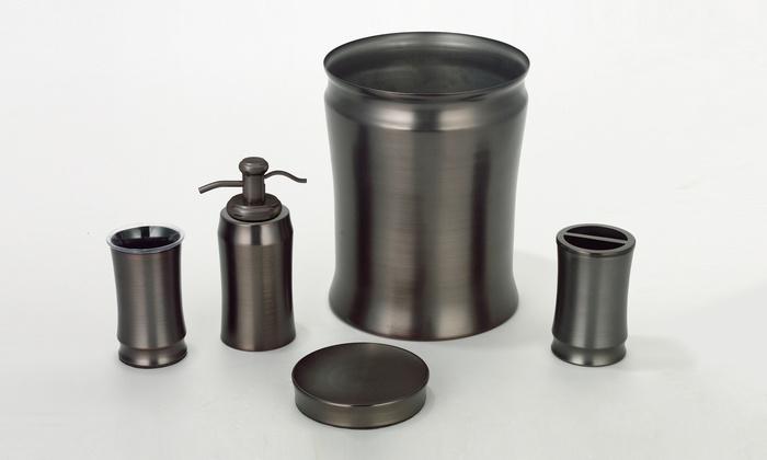 Bronze Bath Accessory Set Groupon Goods