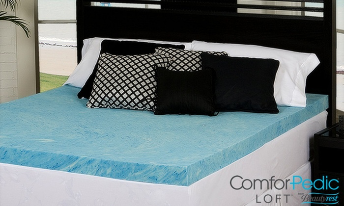 Up To 81 Off on ComforPedic Memory Foam Topper Groupon Goods