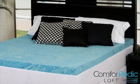 """ComforPedic Loft from Beautyrest 2"""" Comfort Gel Memory Foam Mattress Topper 0a2f20a8-e8af-11e6-81d7-00259060b5da"""