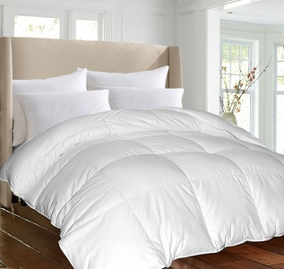 ELLE Premium 1200 Thread Count White Down Comforter