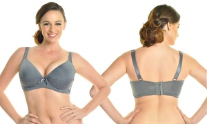 6-pack Of Angelina Plus-size Bras With Cushioned Straps (34d-44ddd)