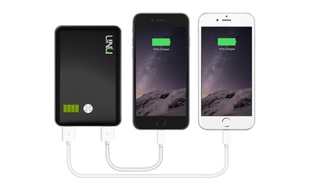 uNu 11,000mAh Portable Power Bank for Smartphones and Tablets
