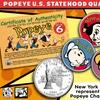 Popeye & Friends Colorized U.S. Statehood Quarter 6-Coin Set