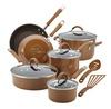 Groupon.com deals on Rachael Ray Cucina Hard Enamel Nonstick Cookware Set (12-Piece)