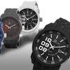 Joshua & Sons Men's Silicone Strap Watch