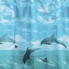 """Dolphin"" Fabric Shower Curtain"