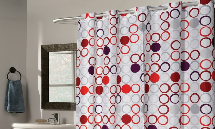 No Hooks Needed Shower Curtain Groupon Goods