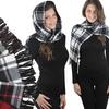 Women's Plaid Fleece Scarves (6-Pack)