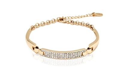 Crystal Block Bracelet with Swarovski Elements