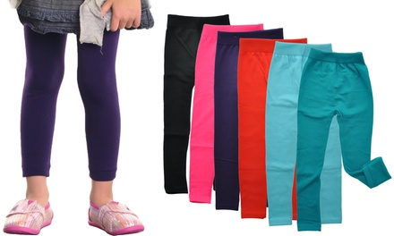 Angelina Girls' Fleece-Lined Leggings (6-Pack)