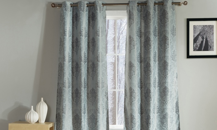 DUCK RIVER TEXTILE: Pair Of Extra Long Heavyweight Blackout Curtain Panels  ...