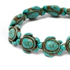 Simulated Turquoise Turtle Stretch Bracelet
