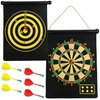 Magnetic Roll-Up Dartboard and Bullseye Game with Darts: Magnetic Roll-Up Dartboard and Bullseye Game with Darts