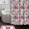 Butterfly 15-Piece Shower Curtain and Bath Rug Set