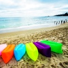 Quick Inflatable Outdoor Air Lounger with Carrying Bag