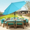 TRADEMARK GAMES, INC: Pure Garden 10' Aluminum Patio Umbrella with Auto Tilt