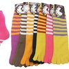 Women's Striped Toe Socks (6-Pack)