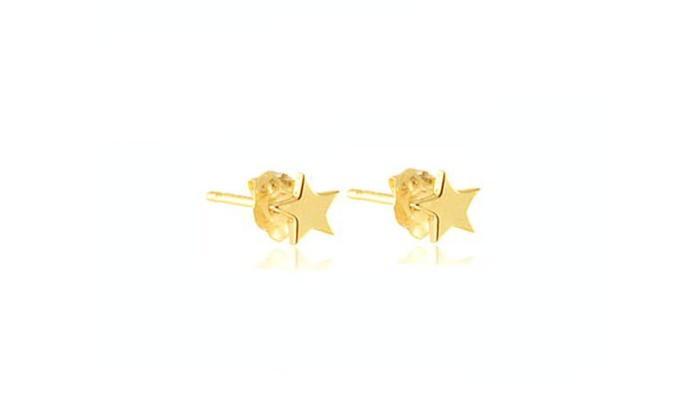 4e4ce5d5e 14K Gold Star Stud Earrings | Groupon Goods