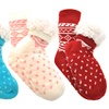 Angelina Girls' Fleece-Lined Socks with Non-Skid Bottom (3-Pack)