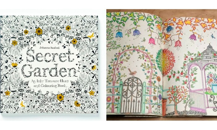 Trend Matters Adult Anti Stress Secret Garden Coloring Book