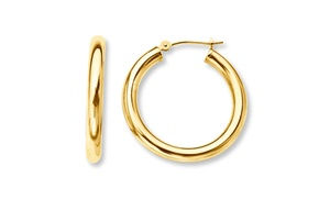 French Lock Hoops in Solid 14K Gold at French Lock Hoops in Solid 14K Gold, plus 6.0% Cash Back from Ebates.