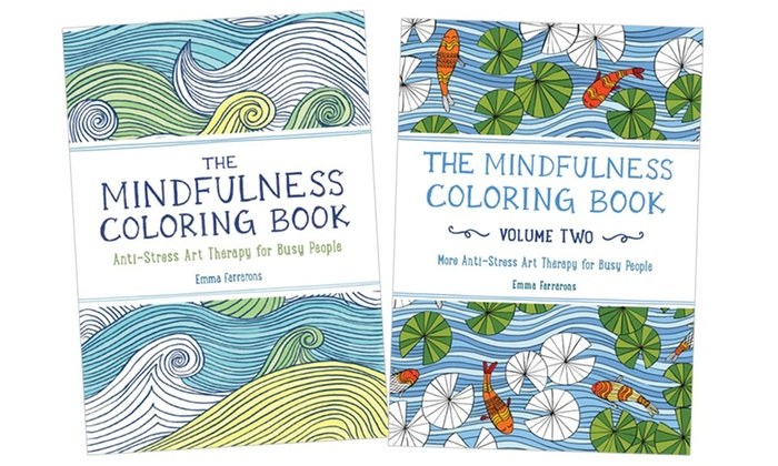 Mindfulness Pocket Sized Adult Coloring Book Set 2 Piece