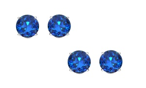 1 Or 2 Pairs Of 2.00 Ctw Genuine Sapphire Stud Earrings By Gemmaluna